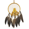 Dream Catcher with pouch (gold)